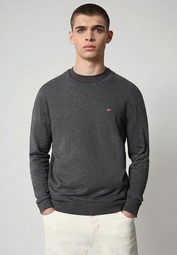 DECATUR - Stickad tröja - dark grey melange