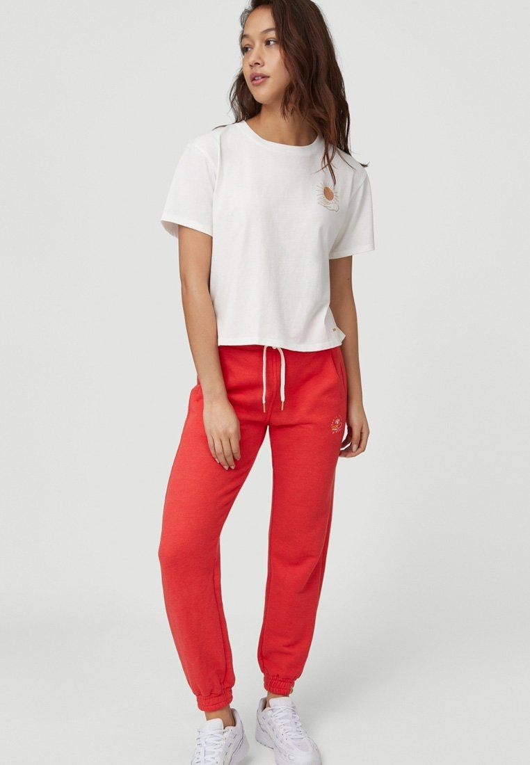 O'Neill - GRAPHIC - Tracksuit bottoms - hot coral