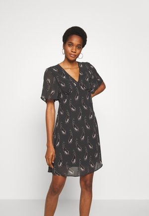 VIRITTA SHORT DRESS - Day dress - black