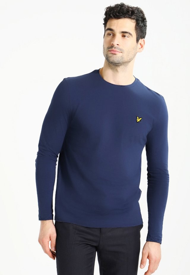CREW NECK PLAIN - Long sleeved top - navy