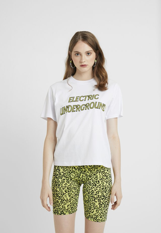OLINE ELECTRIC UNDERGROUND - T-shirts med print - white