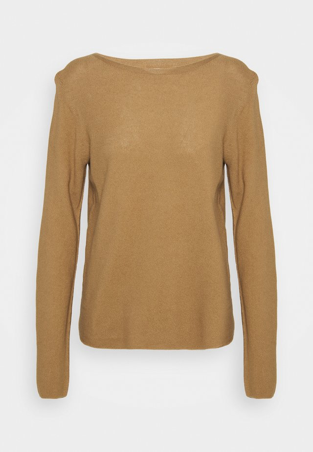 LONGSLEEVE SOLID STRUCTURED SEAMLESS - Sweter - sandy beach