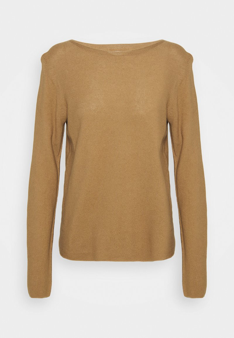 Marc O'Polo - LONGSLEEVE SOLID STRUCTURED SEAMLESS - Jumper - sandy beach