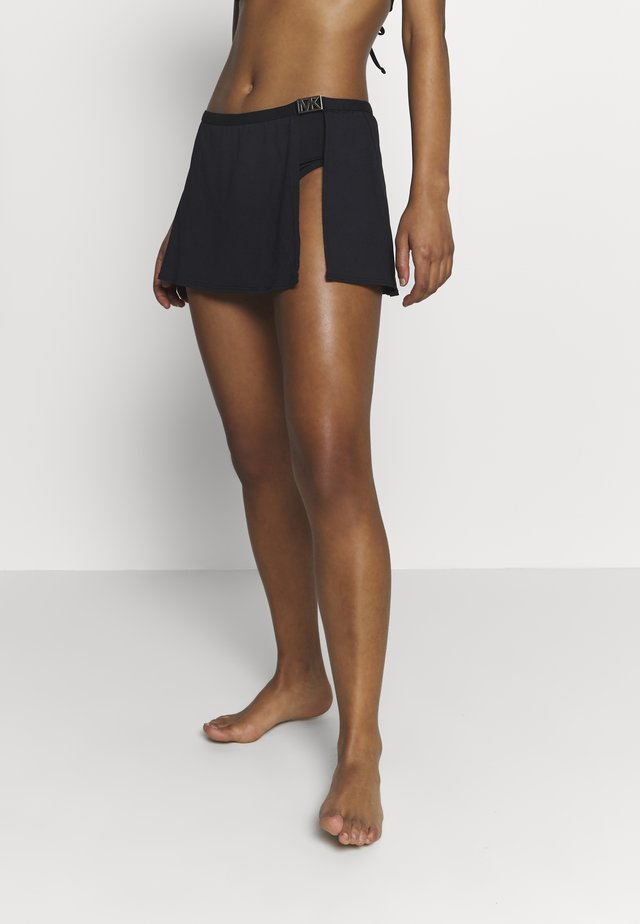 LOGO SOLIDS SKIRT BOTTOM - Bikini bottoms - black