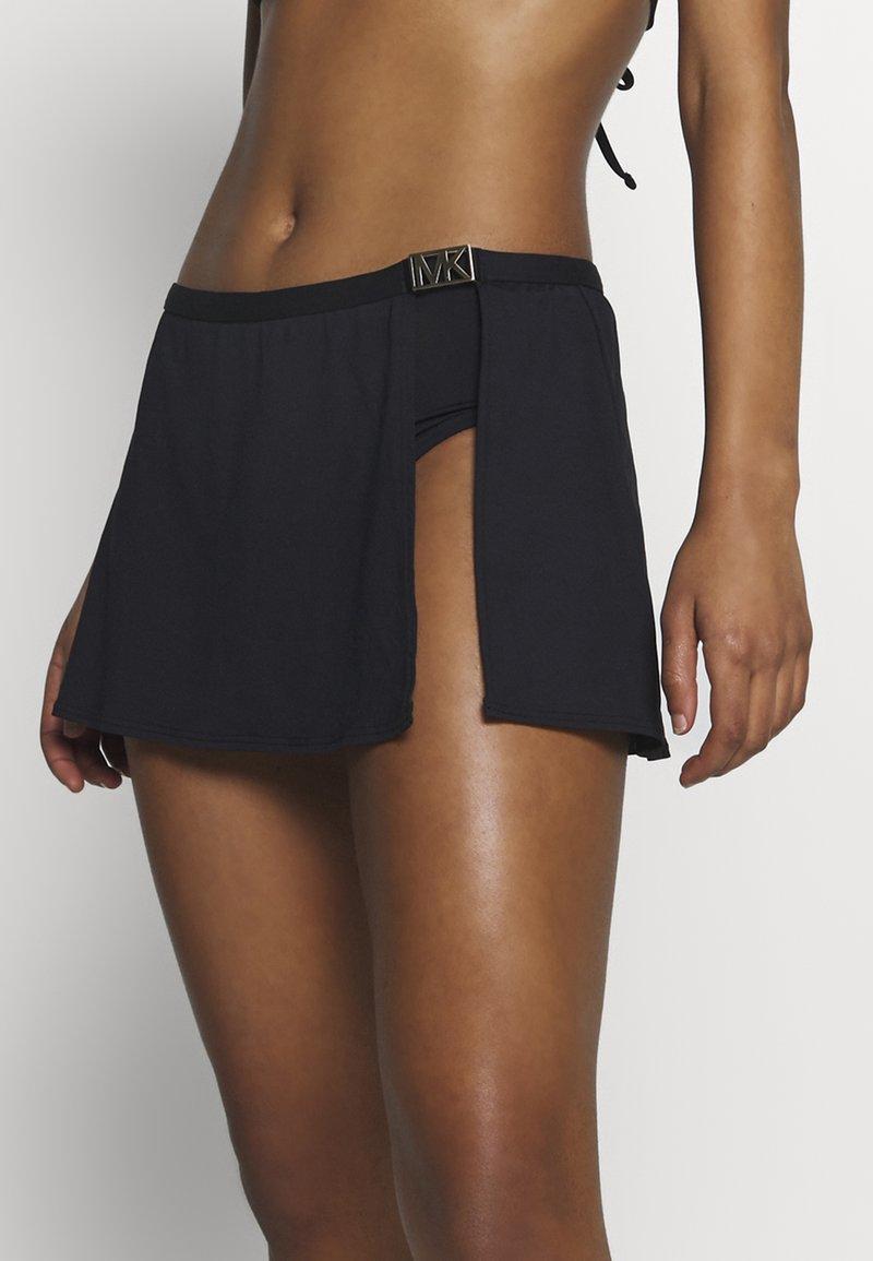 MICHAEL Michael Kors - LOGO SOLIDS SKIRT BOTTOM - Braguita de bikini - black