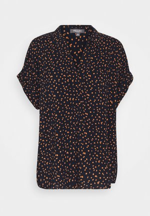 PRINT TURN UP - Blouse - navy/orange