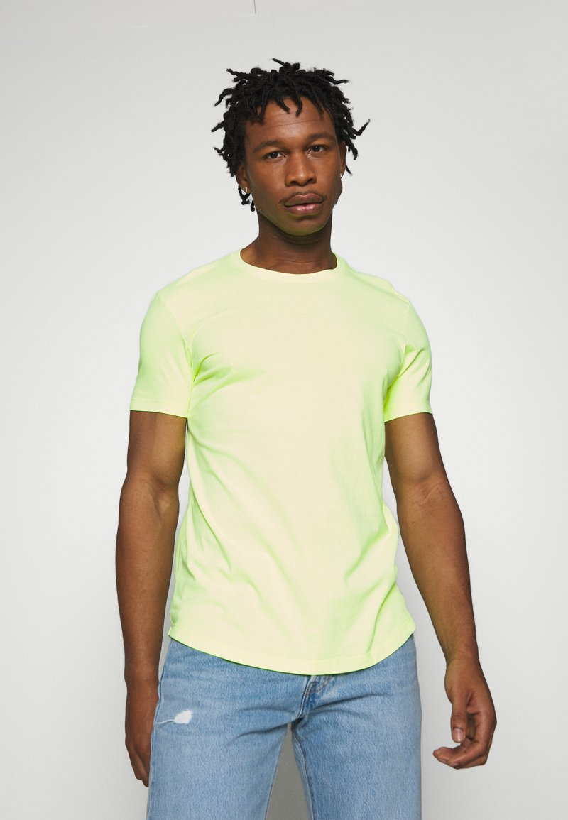 edc by Esprit - NEON DYE - Basic T-shirt - bright yellow