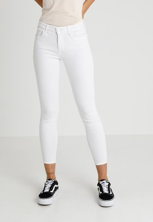 SKINNY CROP - Skinny džíny - white