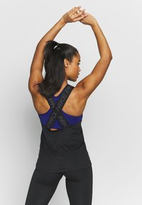 Nike Performance - DRY ELASTIKA TANK - Funktionstrøjer - black/thunder grey - 2