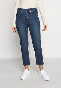 GAP Petite - CIGARETTE GLYDE - Slim fit jeans - dark indigo - 0