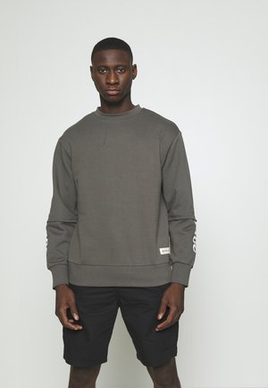 DISTRESSED LAYERED - Felpa - charcoal