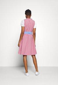 ONLY - ONLELLY CHECK  DRESS - Dirndl - cloud dancer/red - 2