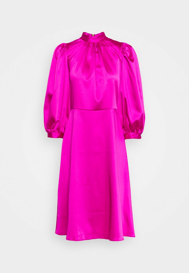 CLOSET HIGH NECK PUFF SLEEVE MINI DRESS - Day dress - pink