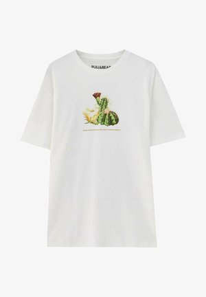 KAKTUSPRINT - T-shirt imprimé - white