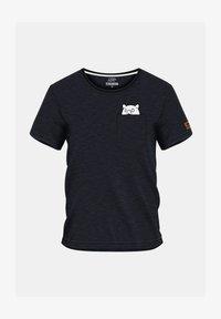 FORSBERG - MIT BRUSTTASCHE  - Print T-shirt - anthrazit melange - 1