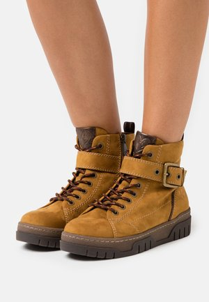 Ankle boots - mustard yellow