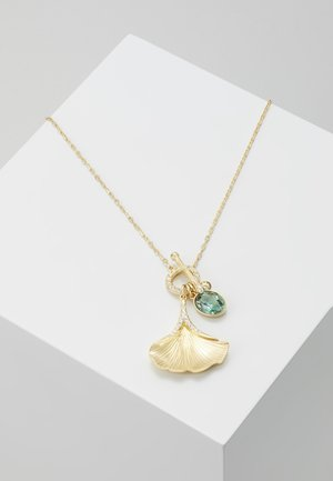 STUNNING NECKLACE GINKO - Halskæder - gold-coloured