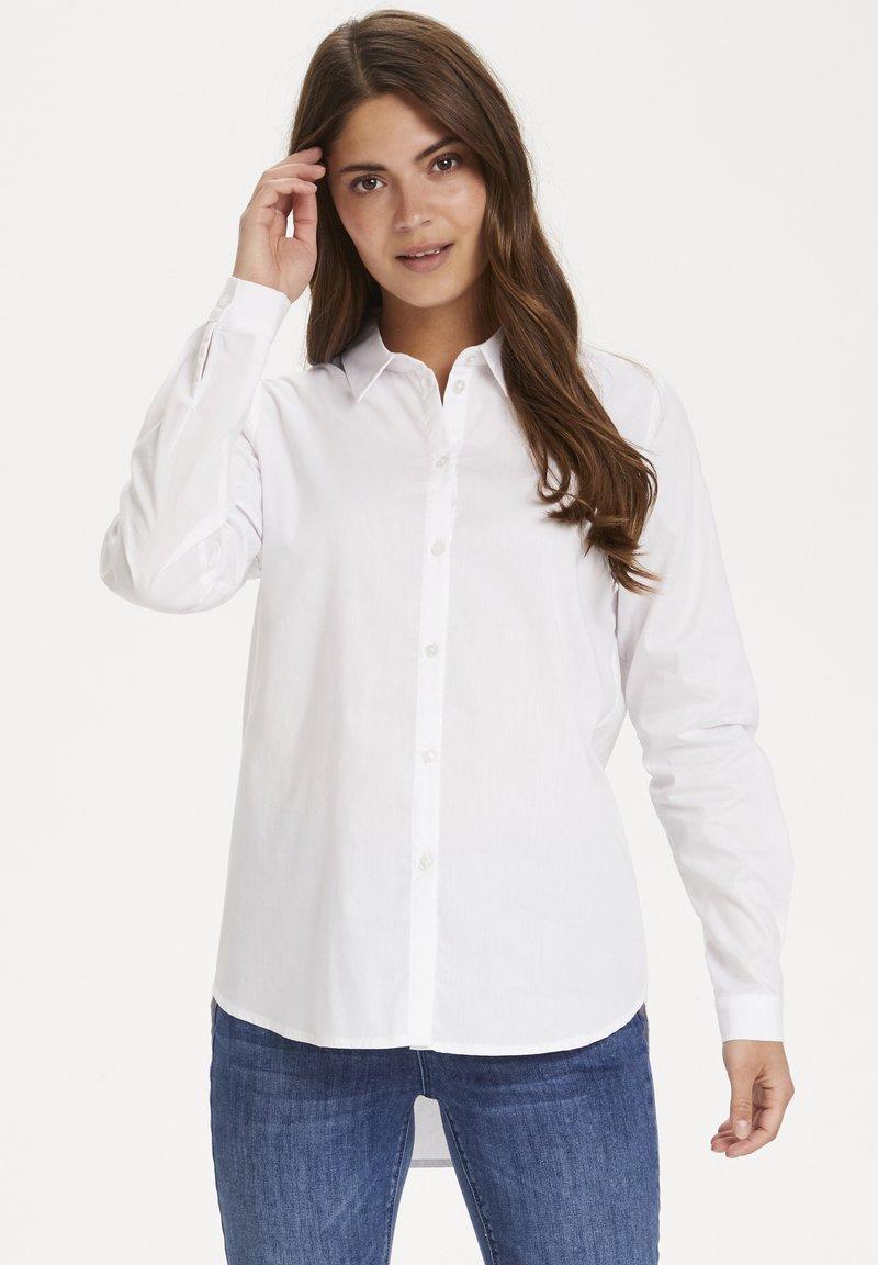 Kaffe - KASCARLET - Button-down blouse - optical white