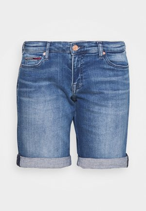 MID RISE  - Denim shorts - tess mid blue