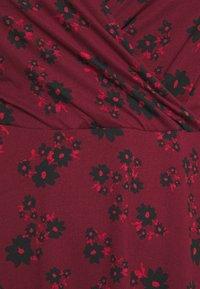 Simply Be - WRAP SKATER DRESS - Jersey dress - dark red - 2