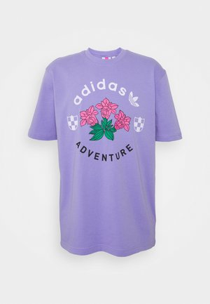 FLOWERS TEE UNISEX - Print T-shirt - light purple