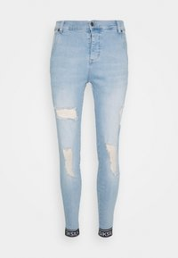 SIKSILK - SKINNY CUFFED JEANS - Jeans Skinny Fit - light blue - 3