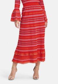 Nicowa - SANAWO - A-line skirt - lila - 0
