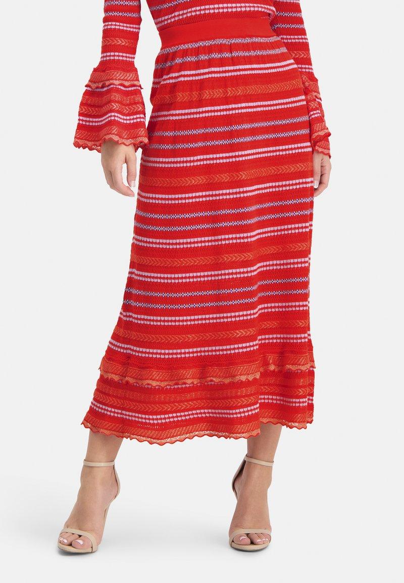 Nicowa - SANAWO - A-line skirt - lila