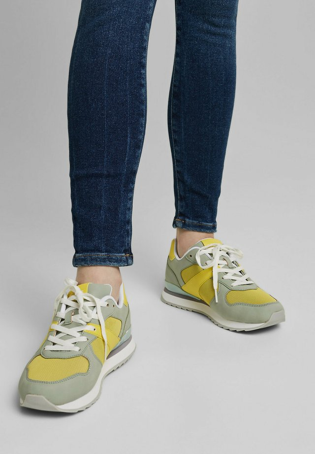 Sneakers laag - lime yellow