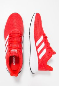 adidas Performance - RUNFALCON - Neutral running shoes - active red/footwear white/core black - 1