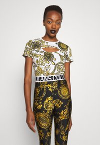 Versace Jeans Couture - Print T-shirt - white/gold - 0