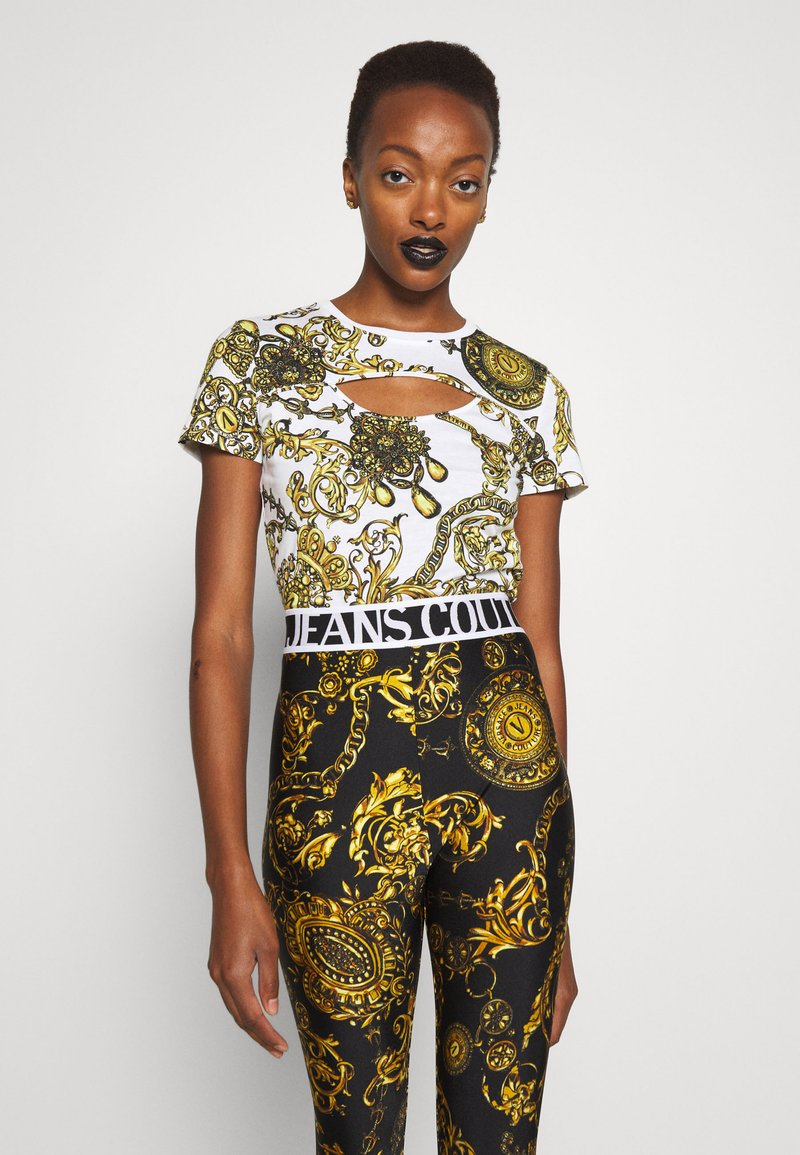 Versace Jeans Couture - Print T-shirt - white/gold
