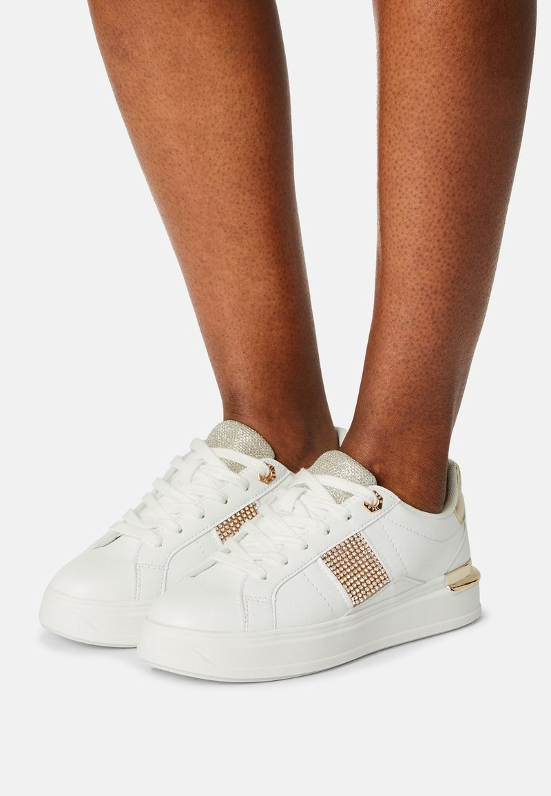 River Island - RHODES - Trainers - white/gold
