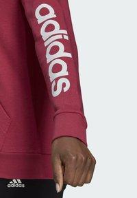 adidas Performance - W LIN FT FZ HD - Felpa aperta - pink - 5