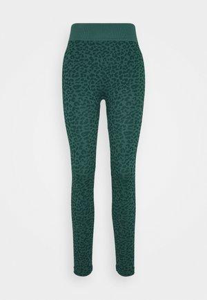 LEOPARD SEAMLESS - Legging - green