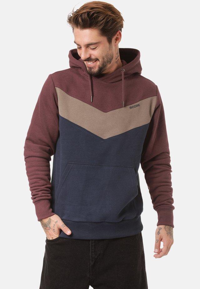 Sweatshirt - aubergine / navy