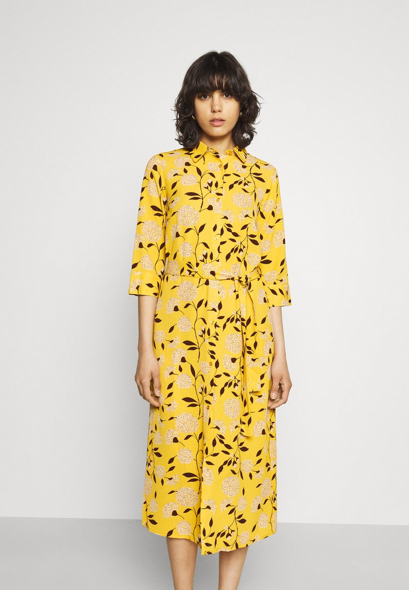 ONLY - ONLNOVA LUX  SHIRT DRESS - Skjortekjole - golden yellow/white