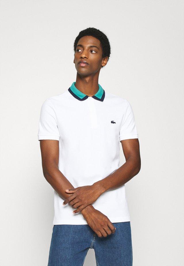 Polo shirt - blanc/niagara/marine