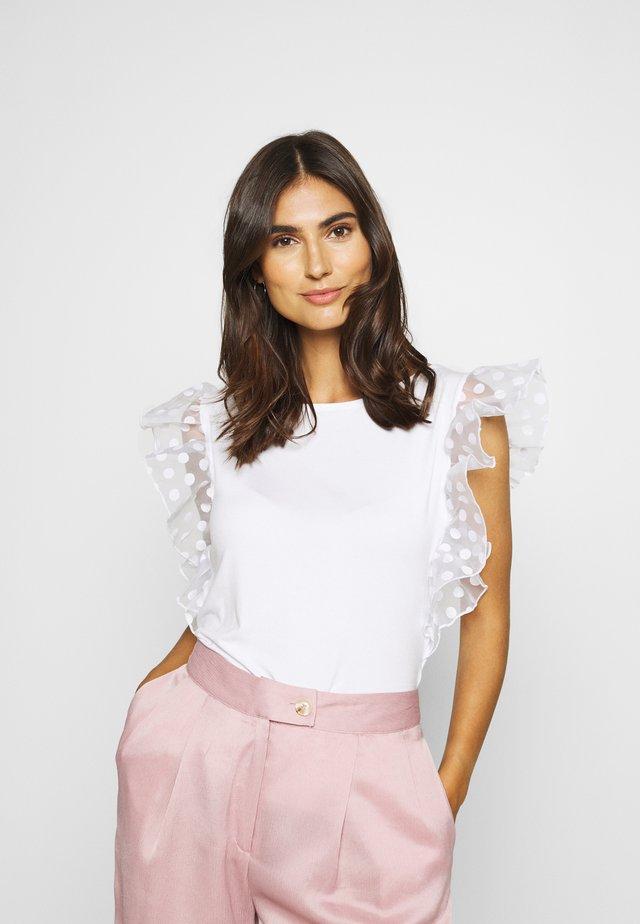 ENZA - Camiseta estampada - true white