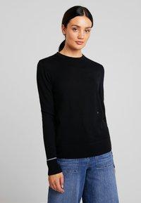 Calvin Klein - SUPERFINE CREW NECK - Jumper - black - 0