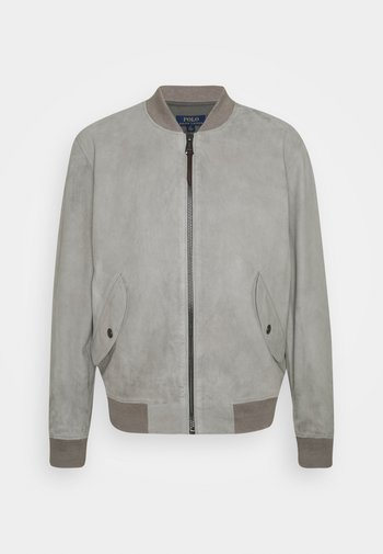 TISSUE GUNNERS  - Giacca di pelle - athletic grey