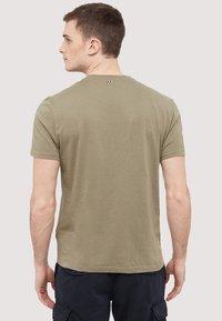 Napapijri - SEY - Print T-shirt - khaki - 2