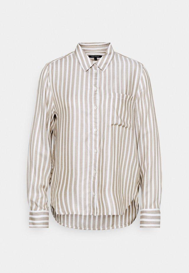 KENT COLLAR BUTTON THROUGH LONG SLEEVE EASY STRIPED - Button-down blouse - multicolor