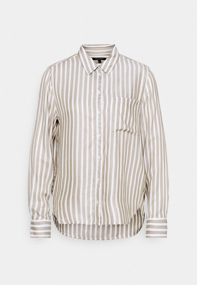 Marc O'Polo - KENT COLLAR BUTTON THROUGH LONG SLEEVE EASY STRIPED - Button-down blouse - multicolor