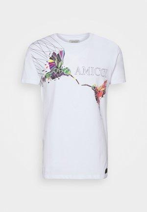 FERRARA - Print T-shirt - off white
