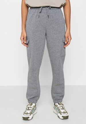 JDYLINE UTILITY PANT - Tracksuit bottoms - medium grey melange