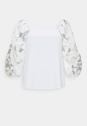 SQUARE NECK - Blouse - ivory