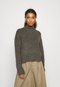 Even&Odd - BASIC- spongy perkin neck - Jersey de punto - charcoal - 0