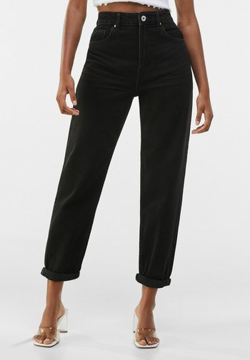 MOM FIT - Relaxed fit jeans - black