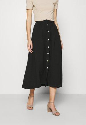 NINE SKIRT - Maxi skirt - jet black